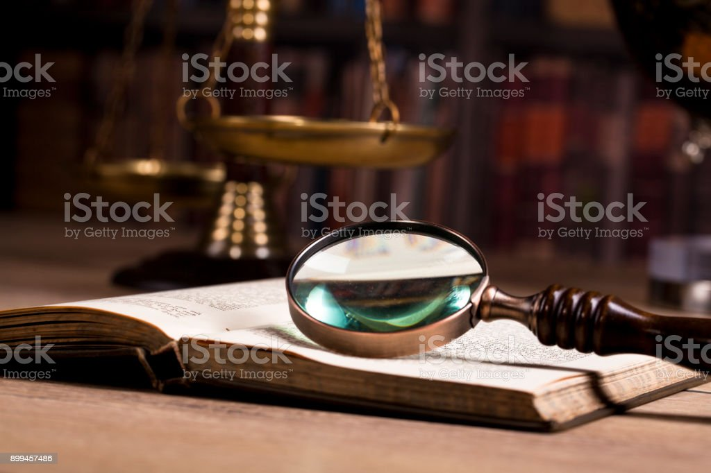 Legal investigation. Trialconcept stock photo