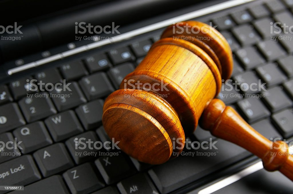 legal keyboard royalty-free stock photo