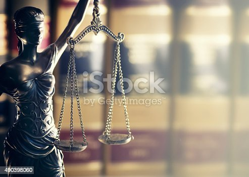 istock Legal law concept image scales of justice 490398060