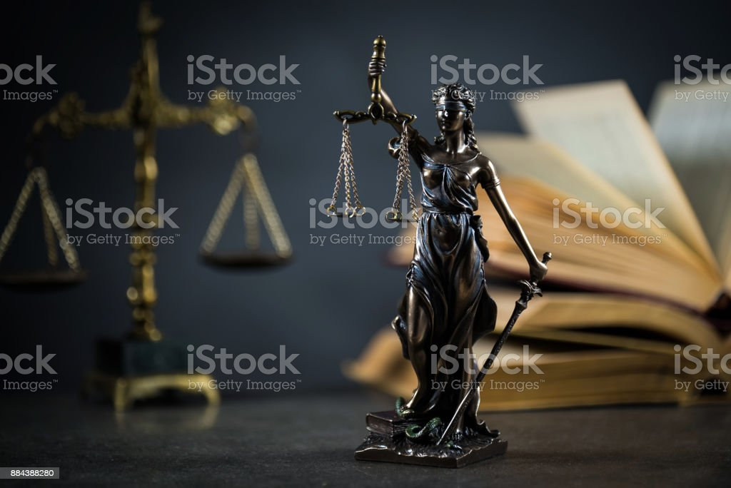 Legal law concept image, Scales of justice stock photo