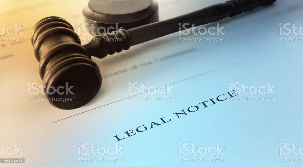 Legal Notice stock photo