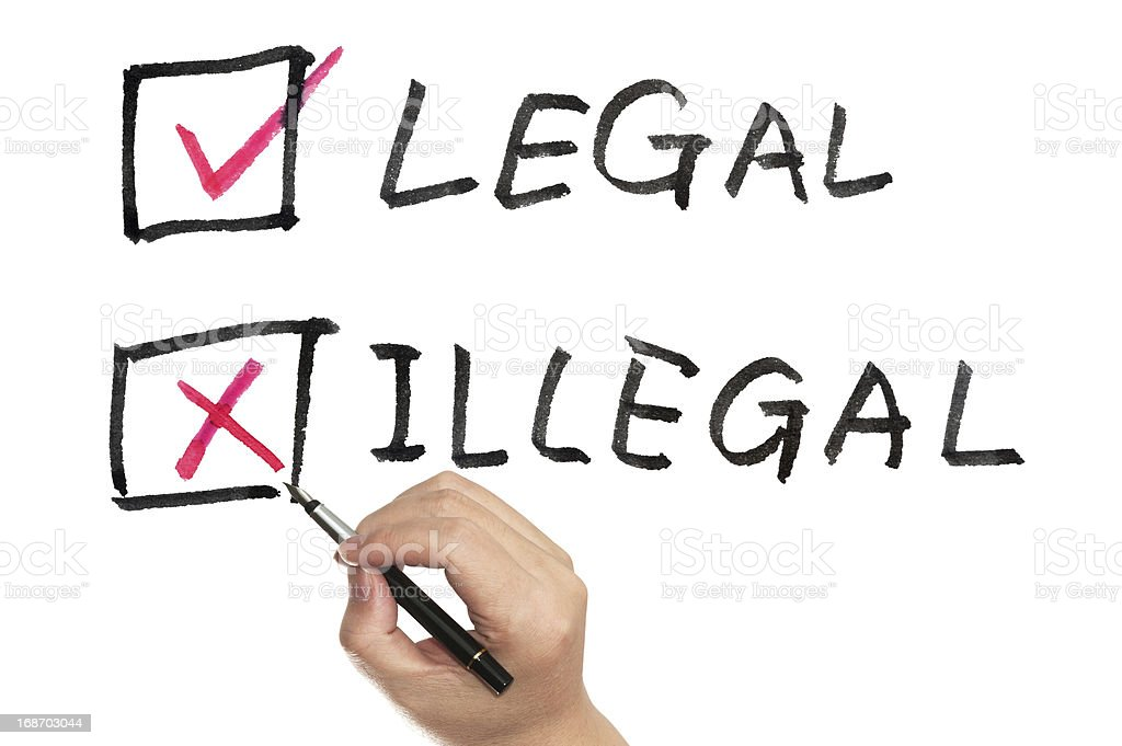 Legal or illegal royalty-free stock photo