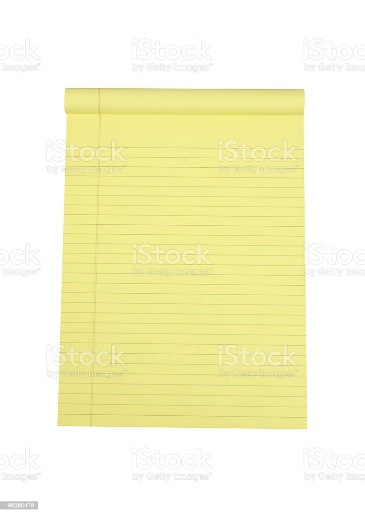 Legal Pad of Paper royalty-free stock photo