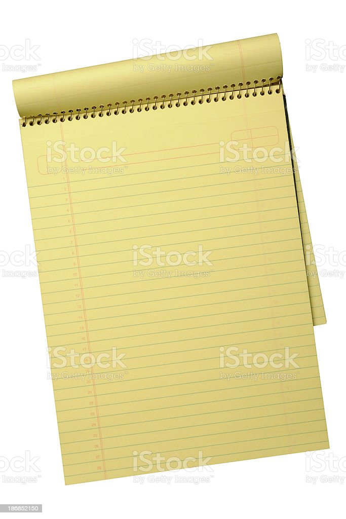 Legal Pad with path royalty-free stock photo