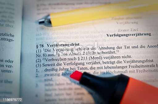 Legal text in German Paragraph § 78 StGB Strafgesetzbuch Verjährung in English Paragraph § 78 StGB limitation