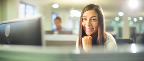 legal trainee in a law firm stock photo
