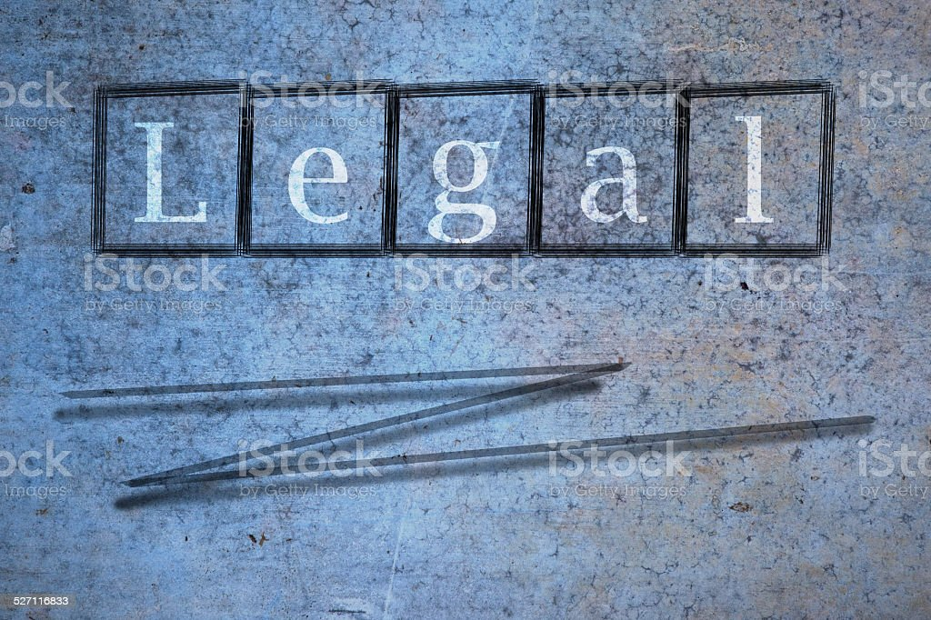 legal writen on a wall background stock photo