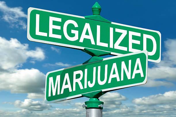Legalized Marijuana Street Sign stock photo