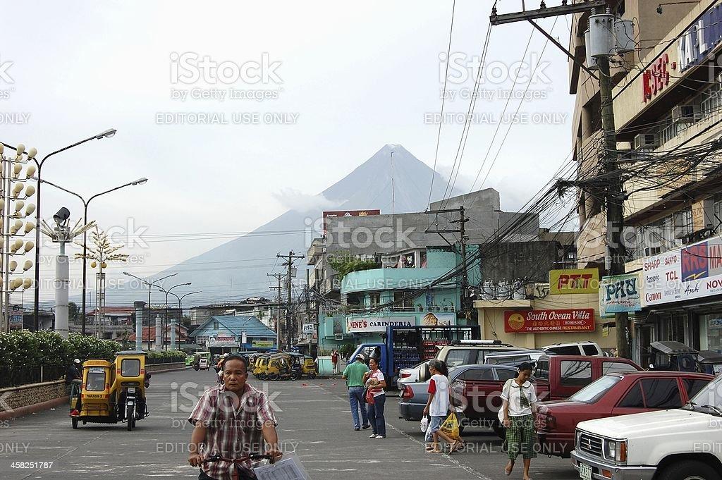 Legazpi city, Albay Philippines royalty-free stock photo