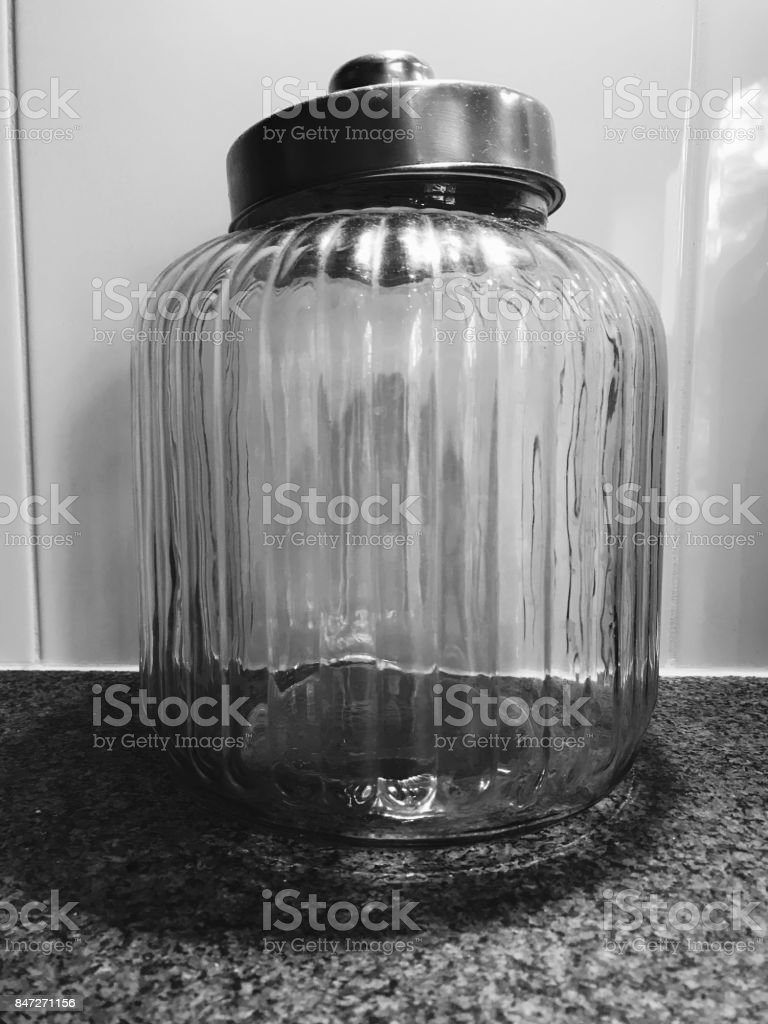 legen glazen pot stock photo