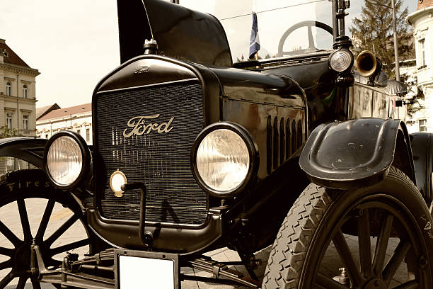 Legendary Ford Model T Zrenjanin;Vojivodina;Serbia-September 07,2016.Ford Model T from 1921 parked in the town square at the exhibition of old cars in Zrenjanin-Serbia as the first series production car by Ford Motor Company. 20th century style stock pictures, royalty-free photos & images