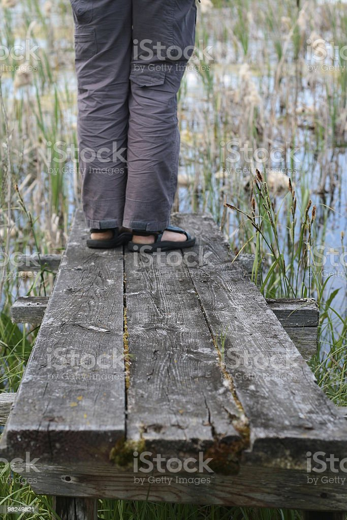 leggs on the bridge royalty-free stock photo