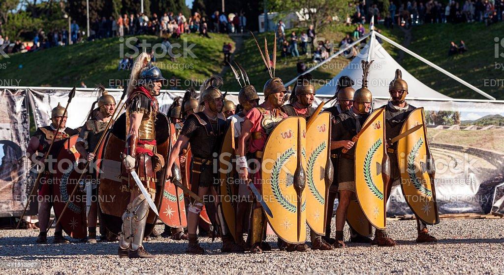 Legio XI Claudia stock photo