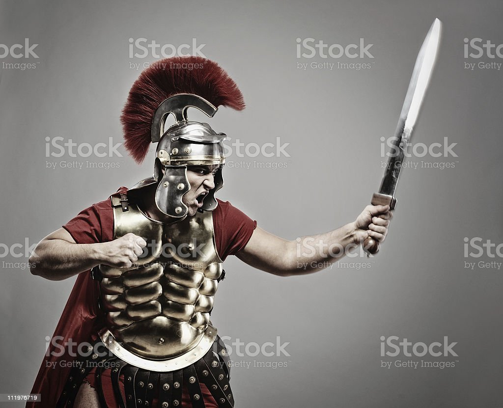 Legionary soldier ready for a war royalty-free stock photo