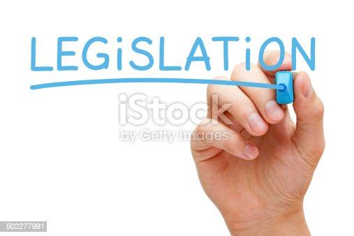 826166958 istock photo Legislation Blue Marker 502277991