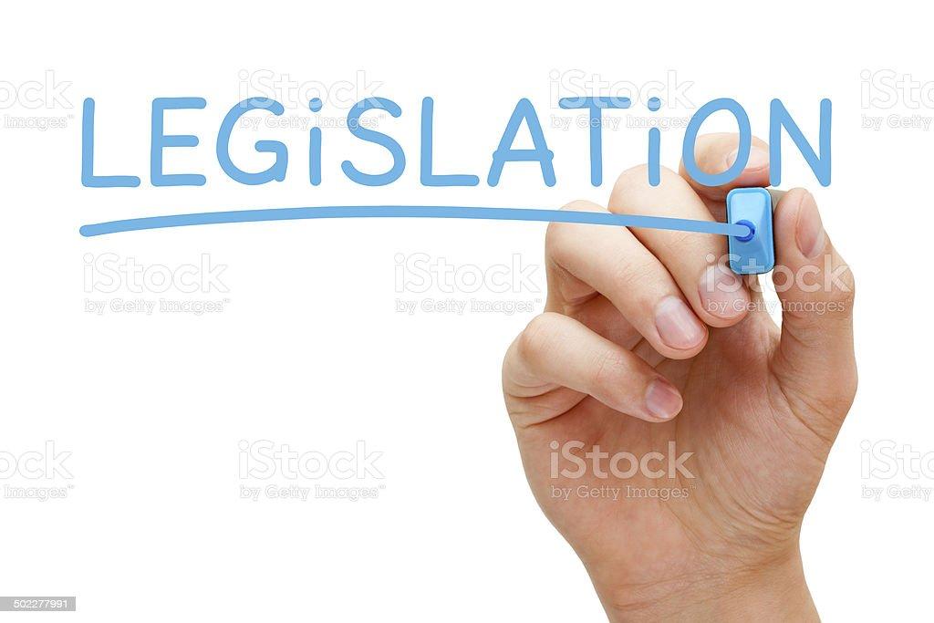 Legislation Blue Marker stock photo