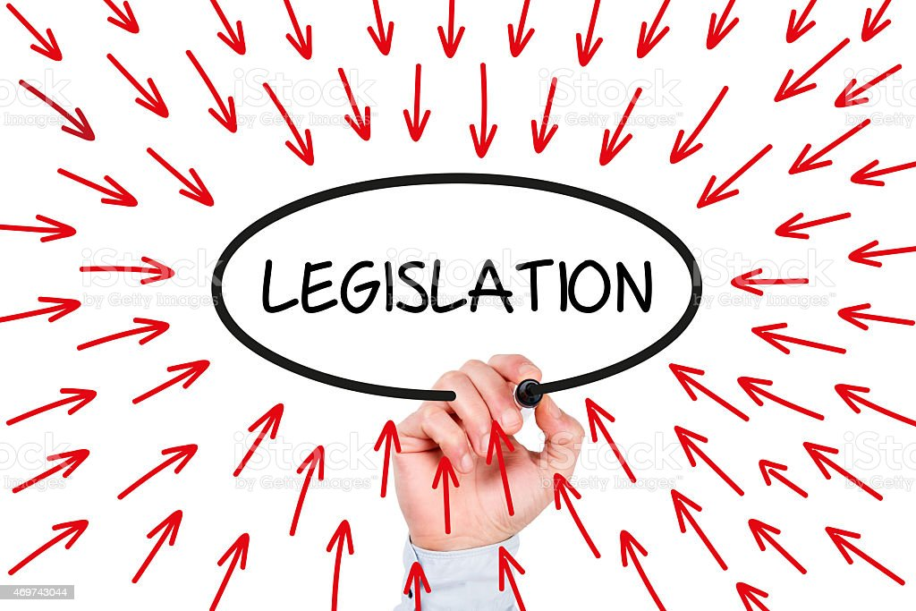 Legislation Concept on Whiteboard stock photo