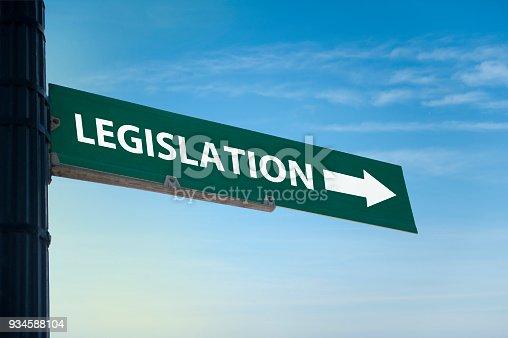 826166958 istock photo Legislation / Road sign concept (Click for more) 934588104