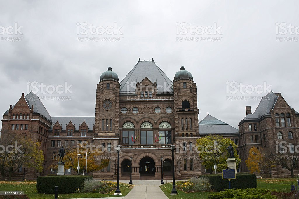 Legislative Assembly of Ontario in Toronto, Canada stock photo