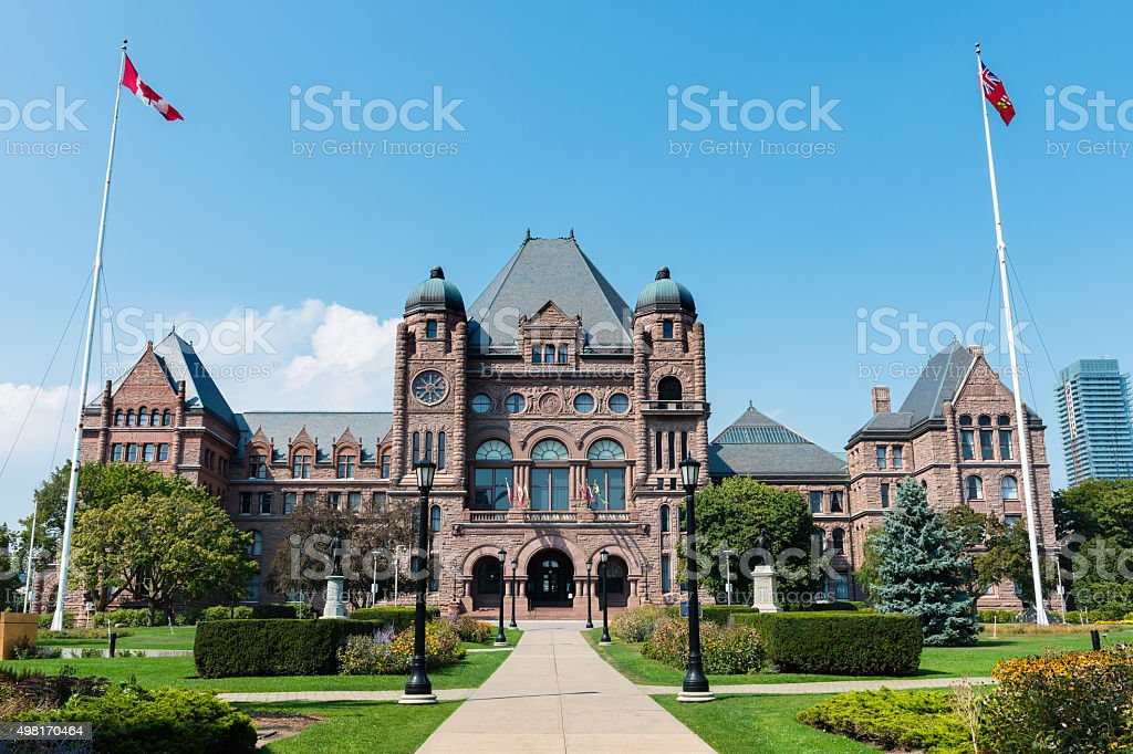 Legislative Assembly of Ontario in Toronto, Canada stock photo