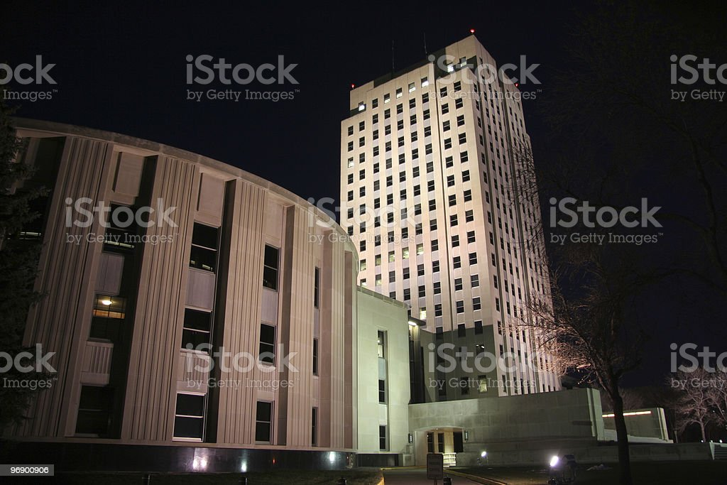Legislature and Tower royalty-free stock photo