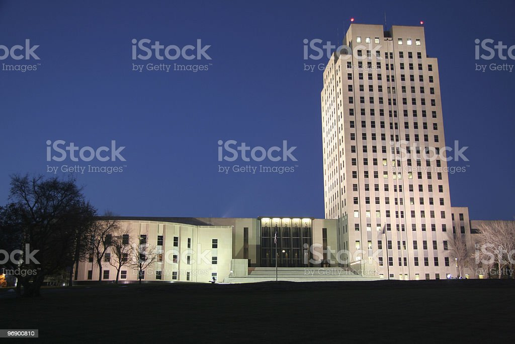 Legislature and Towner Evening royalty-free stock photo