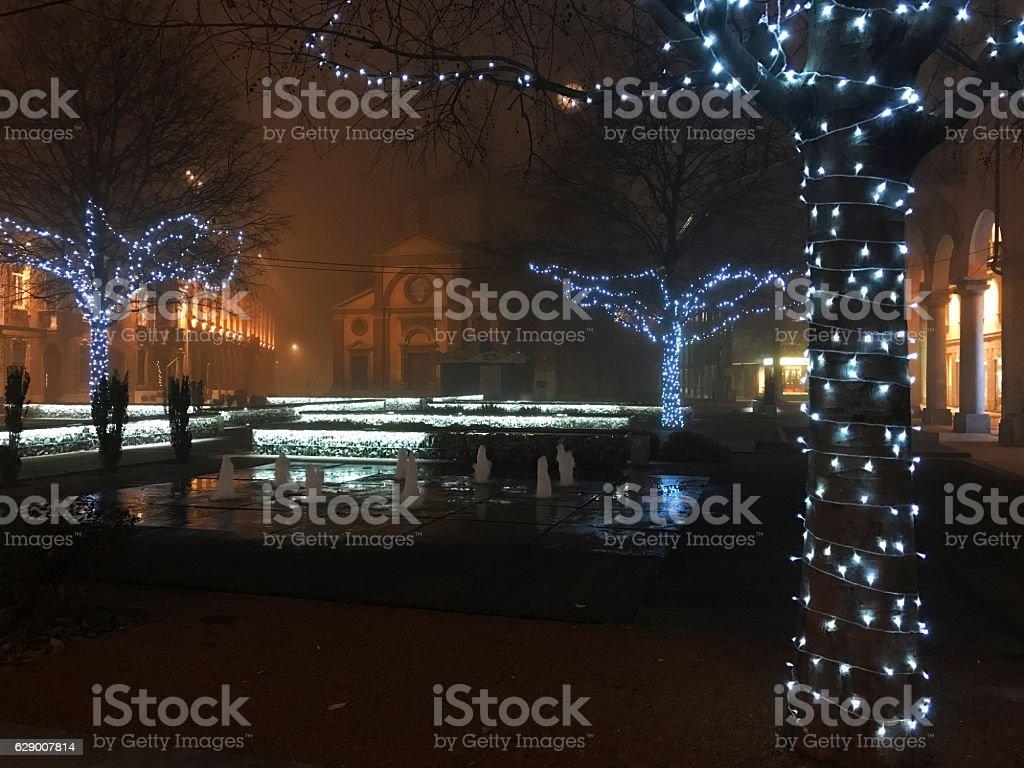Legnano by night stock photo