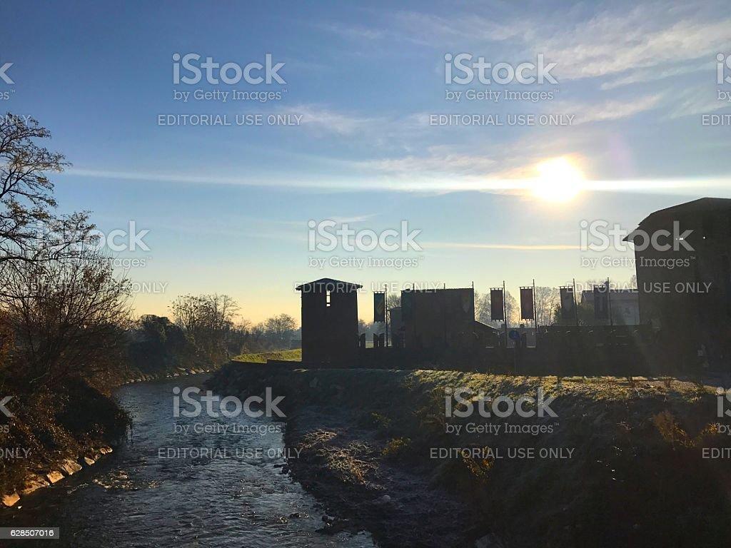 Legnano Castle stock photo