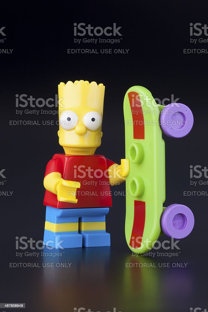 Lego Bart Simpson minifigure stock photo