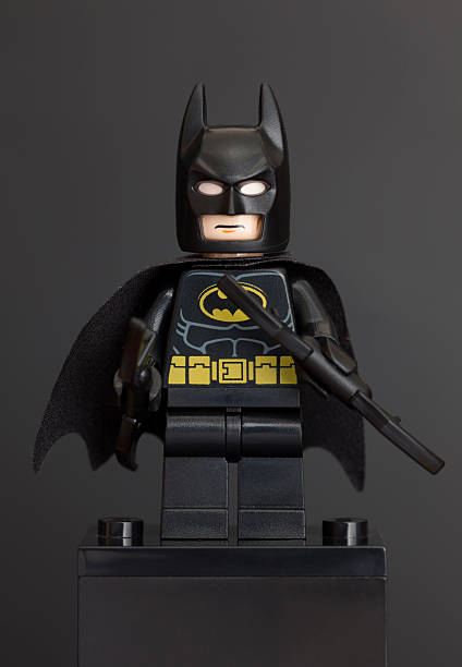 Lego Batman minifigure stock photo