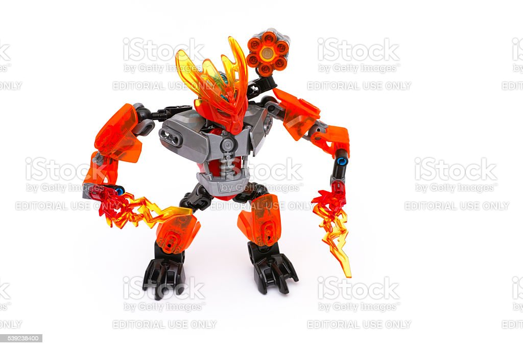Lego BIONICLE Protector of Fire royalty-free stock photo