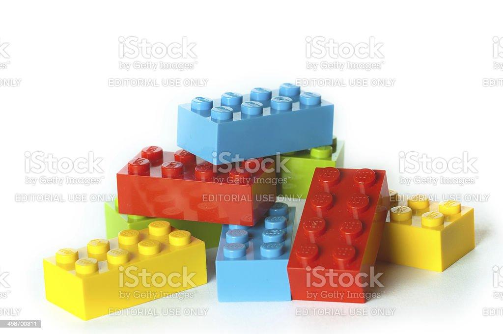 Lego blocks royalty-free stock photo