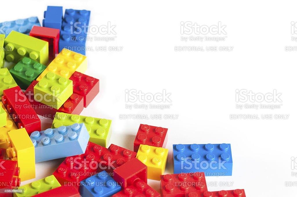 복사 공간이 Lego 블록 - 로열티 프리 0명 스톡 사진