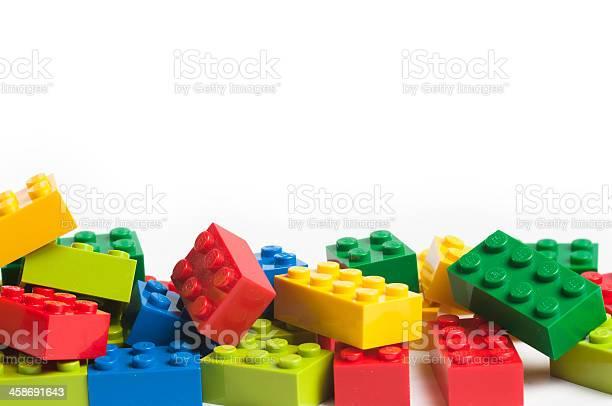 Lego Blocks With Copy Space 照片檔及更多 一組物體 照片