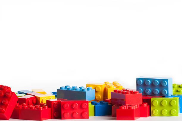 blocos de lego com espaço de cópia - lego imagens e fotografias de stock