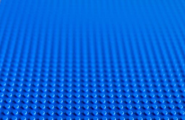 lego blue baseplate - lego stockfoto's en -beelden