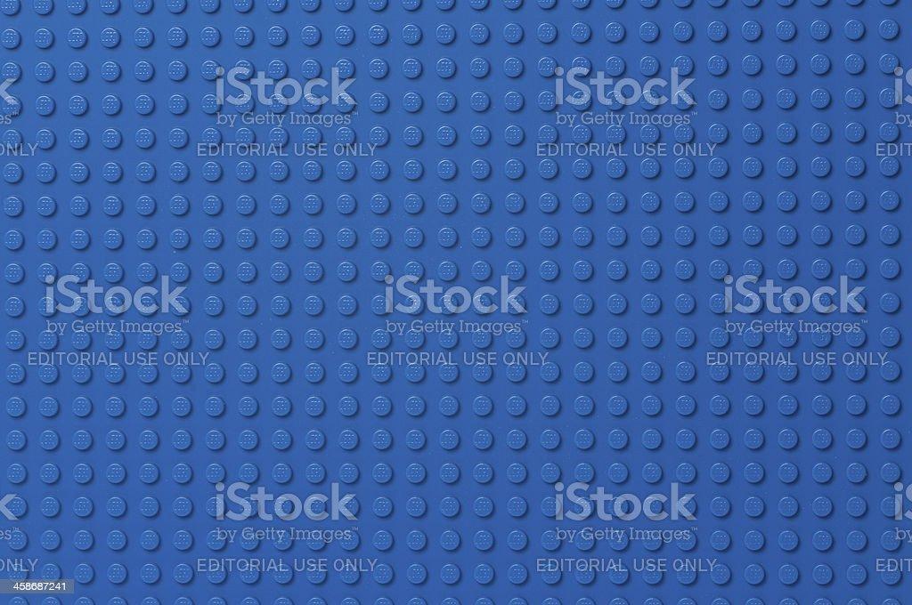 Lego blue baseplate stock photo