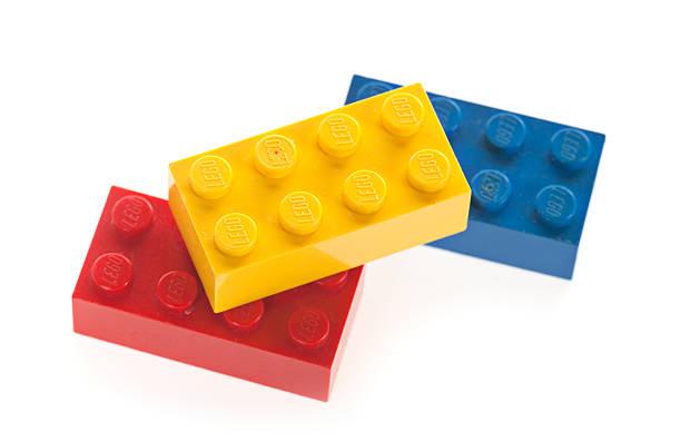 lego building block bricks - lego stockfoto's en -beelden