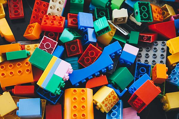 lego building bricks and blocks - lego stockfoto's en -beelden