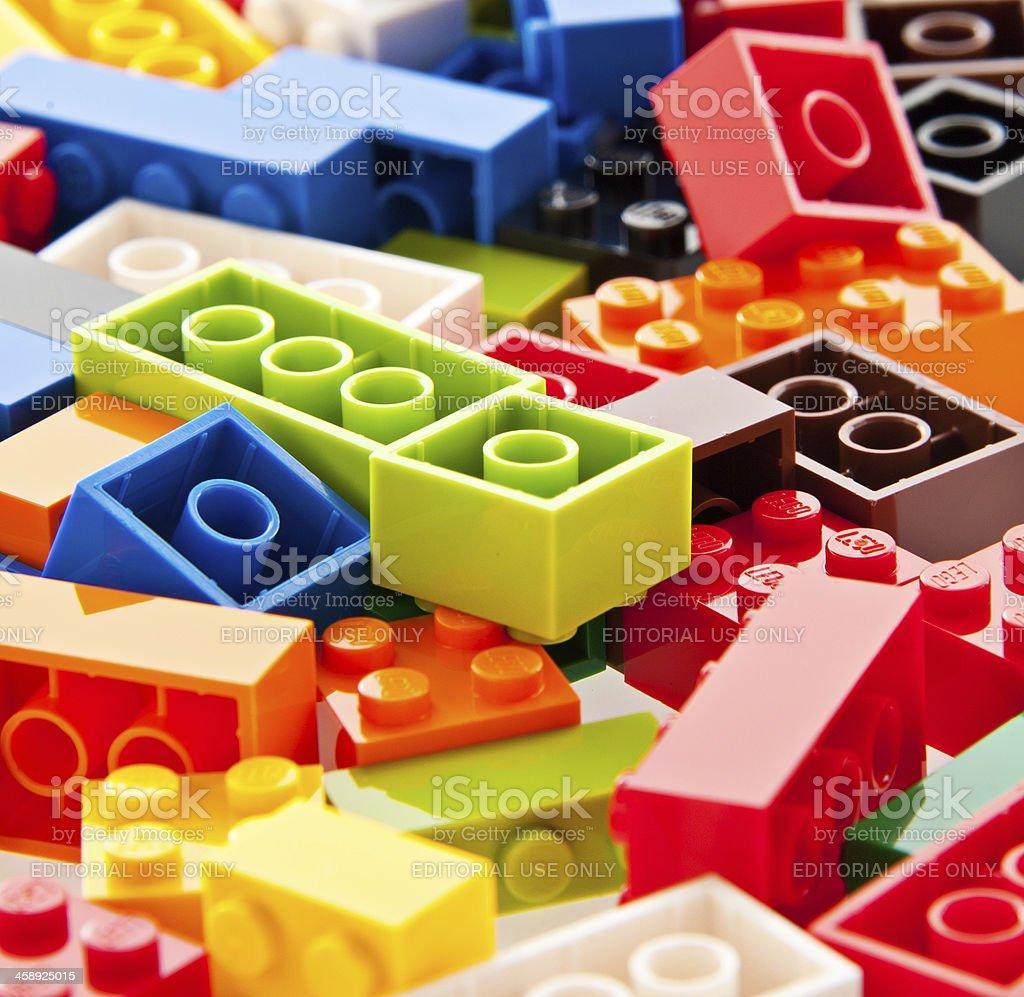 Lego Building Bricks and Interlocking Blocks royalty-free stock photo