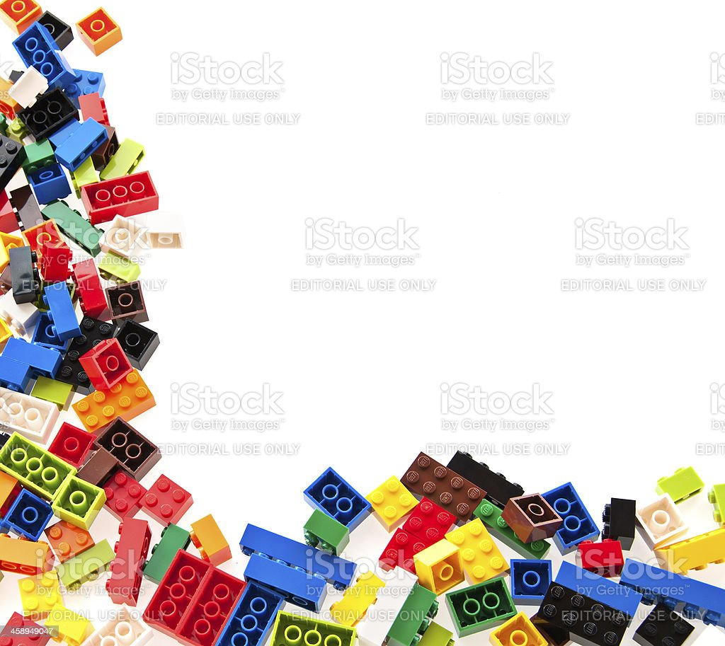 Lego Building Bricks and Interlocking Blocks stock photo