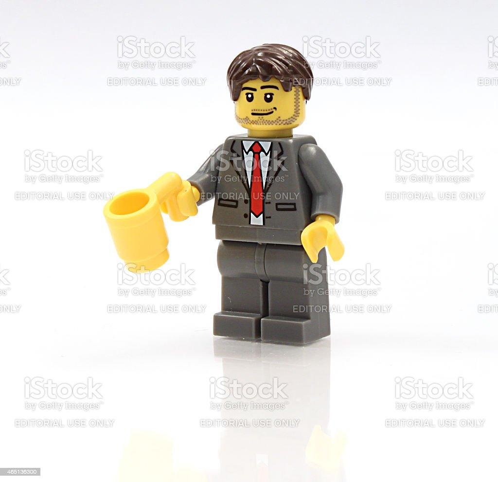 Lego Biznesmen Trzymając Kubek Stockowe Zdjęcia I Więcej Obrazów