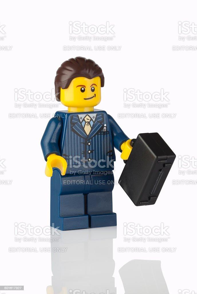 Lego businessman stock photo