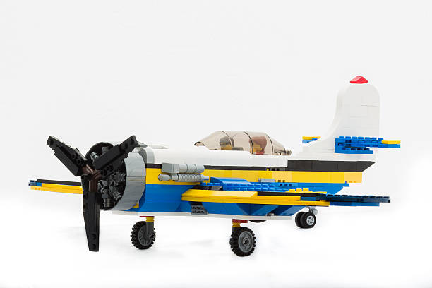 lego creator airplane - lego house stock photos and pictures