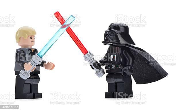 레고 Darth Vader Vs Luke Skywalker 0명에 대한 스톡 사진 및 기타 이미지
