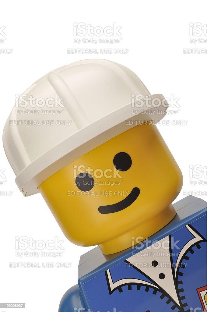 Lego display figure stock photo