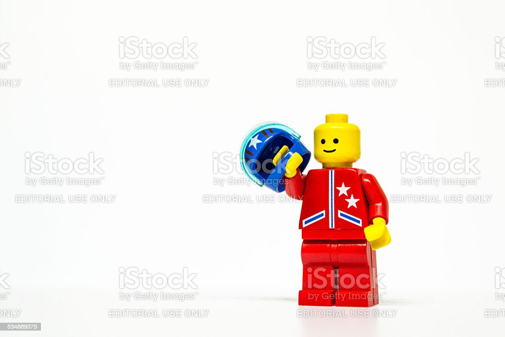 Lego driver mini figure stock photo