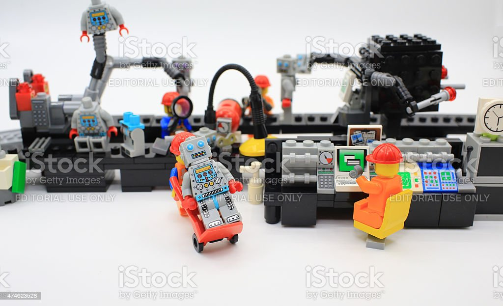 Lego Factory Production Line Stock Photo - Download Image
