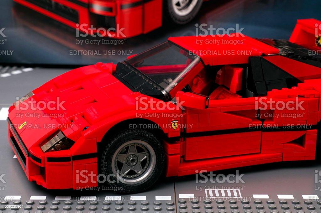 Lego Ferrari F40 foto royalty-free