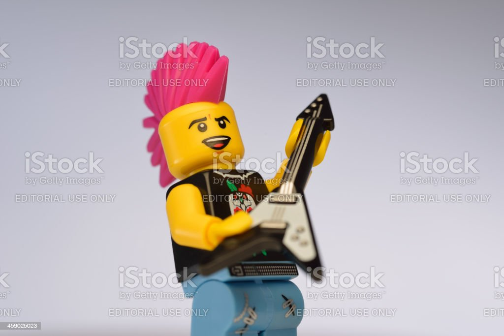 Lego figure of a punk rock musician royalty-free stock photo